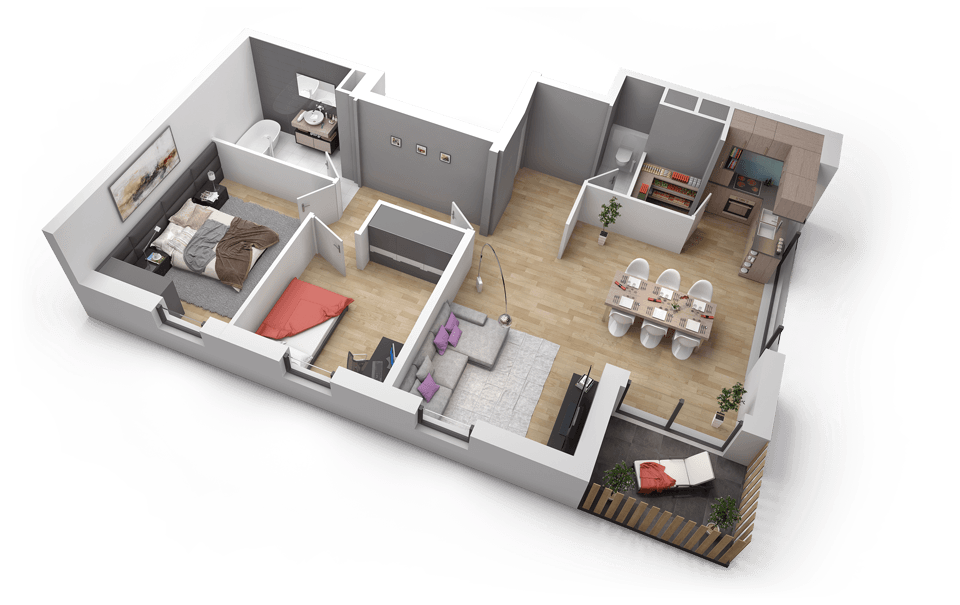 plan appartement 3 pieces